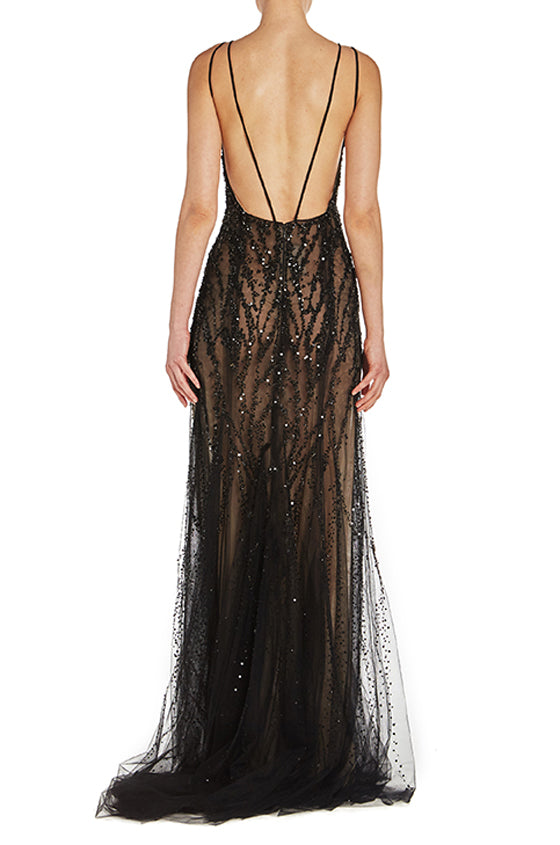 Camisole Embroidered Gown - moniquelhuillier