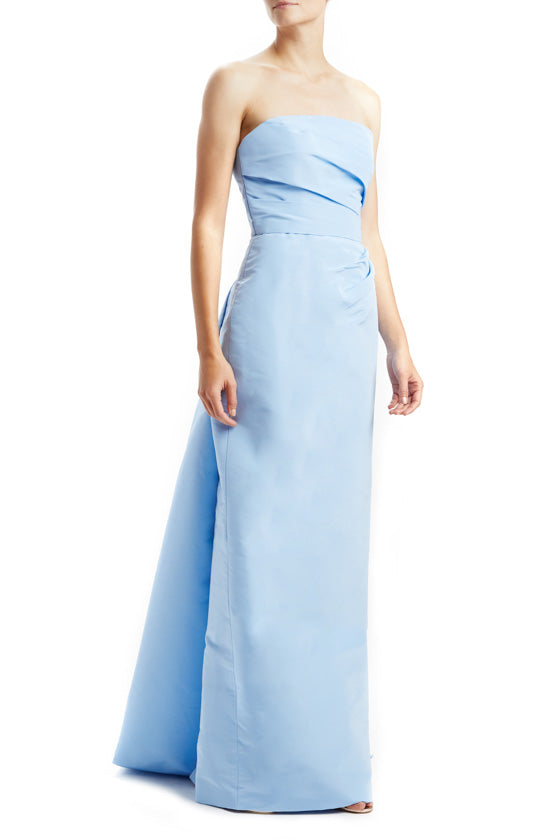 Draped Faille Column Gown