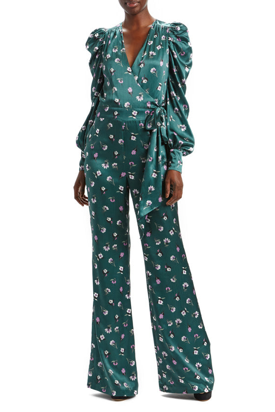 Puff Sleeve Floral Jumpsuit