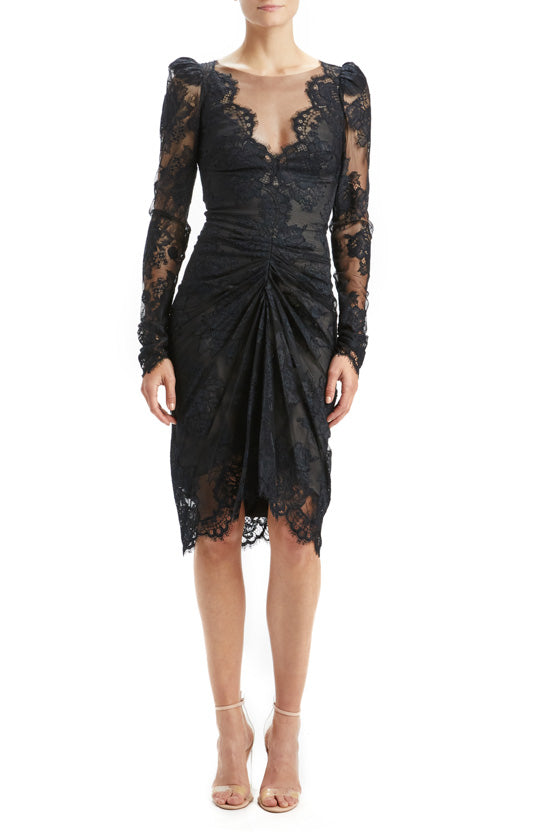 Black Lace Cocktail Dress
