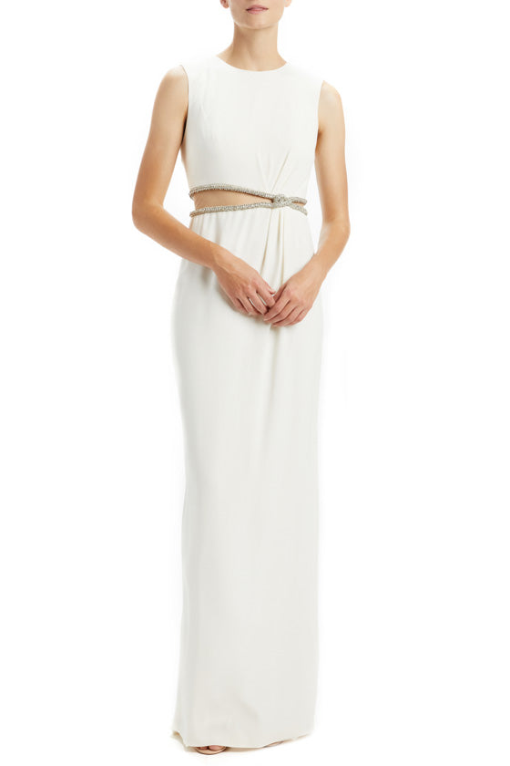 Sleeveless Embellished Waist Gown