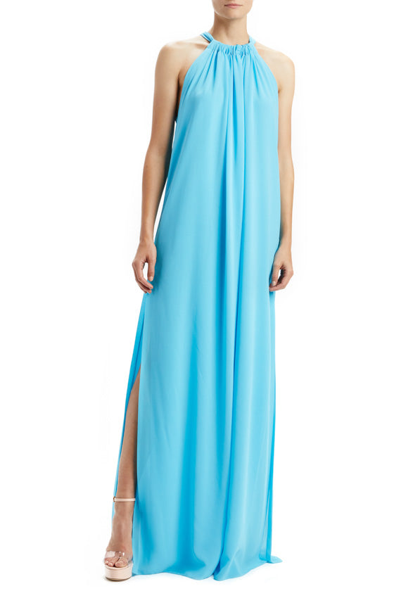 Capri Blue Sleeveless Tent Dress