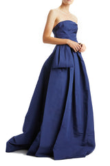 Strapless Gown With Draped Sash