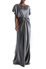 Satin Draped Gown
