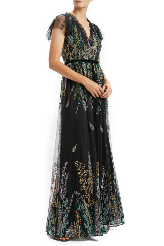 Beaded Embroidered Gown