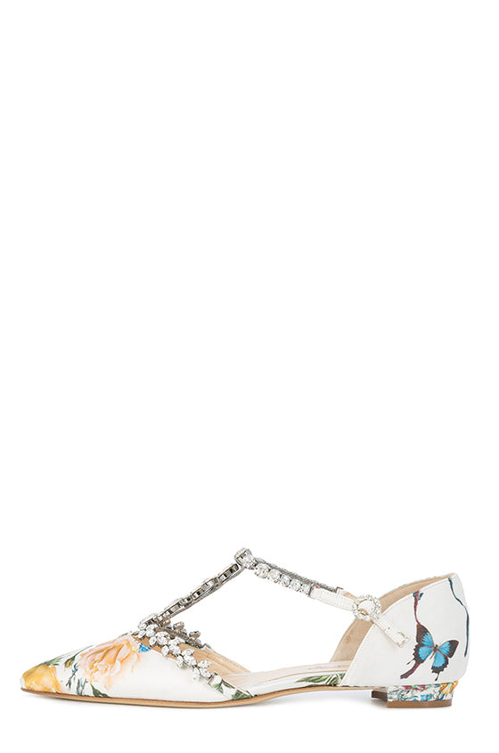 Monique Lhuillier Botanical Print Flat
