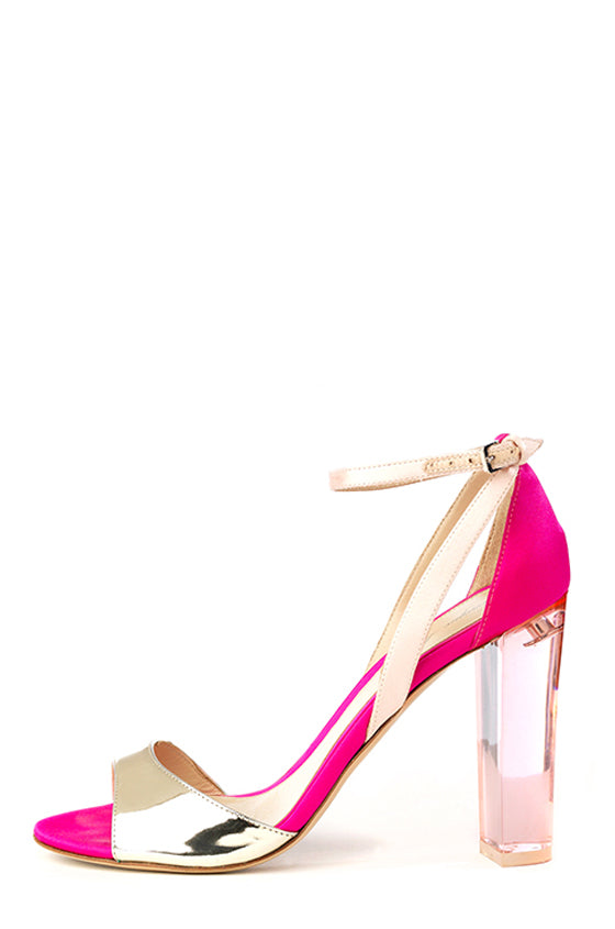 Pink Metallic Monique Lhuillier Sandal
