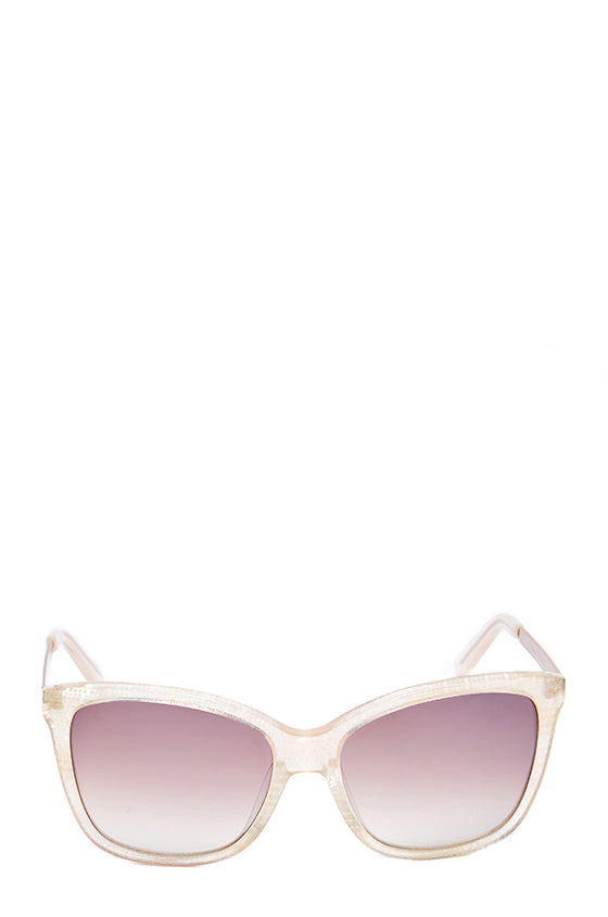 Gold shimmer square acetate sunglasses