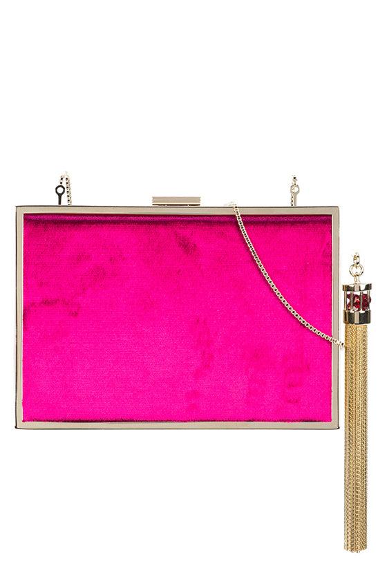Lily Velvet Clutch Box - moniquelhuillier