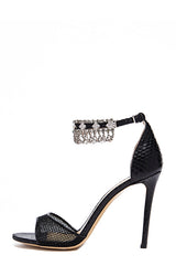 Evelyn Mesh Embellished Sandal - moniquelhuillier
