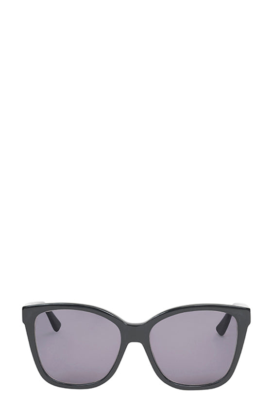 Noir square acetate sunglasses