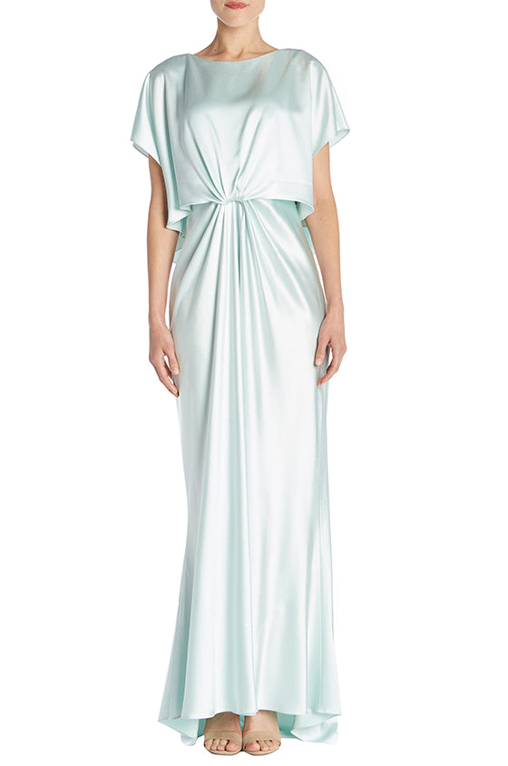 Gathered Front Draped Gown - moniquelhuillier