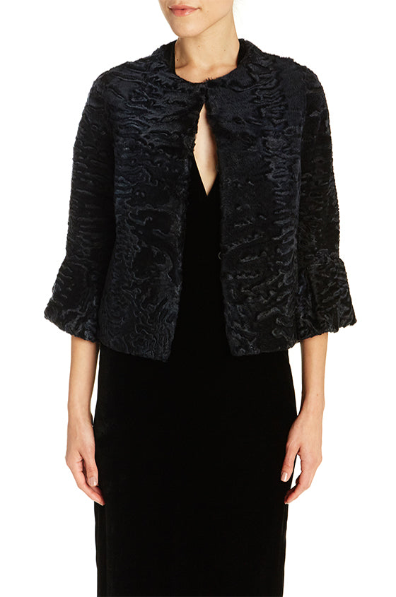 Swakara Jacket with Flare Cuffs - moniquelhuillier