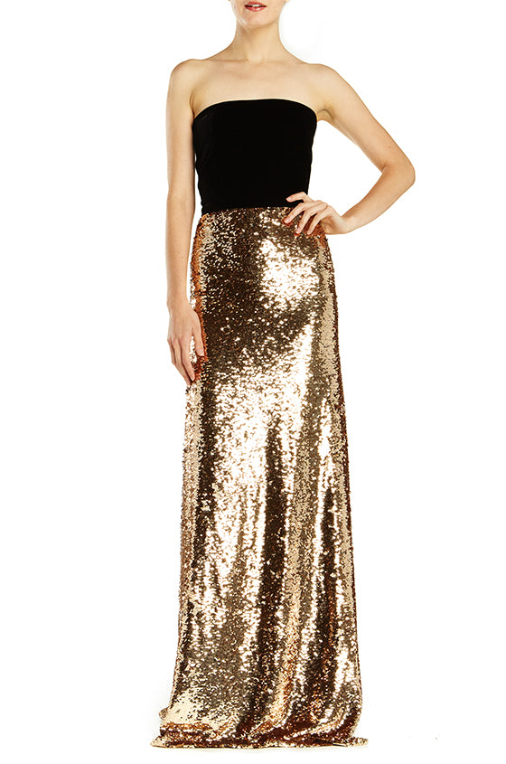 Sequin Column Gown With Train - moniquelhuillier