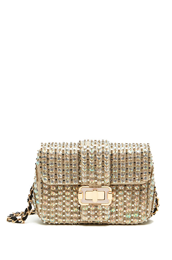 Bianca Iridescent Small Shoulder Bag