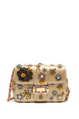 Satin Embroidered Shoulder Bag