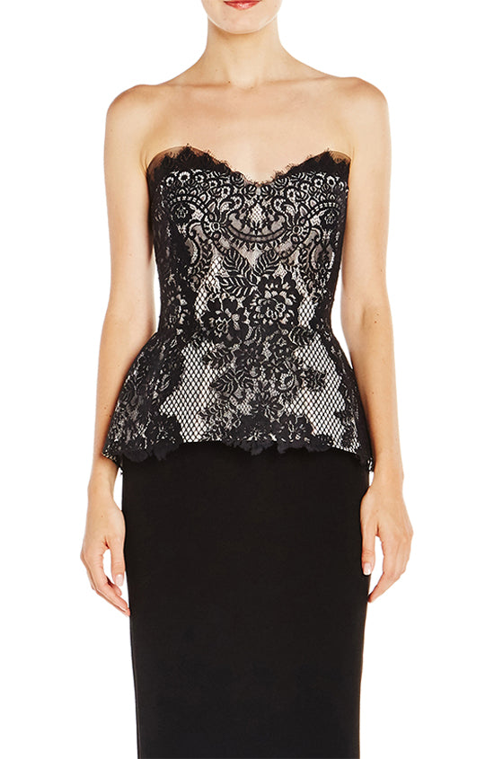 Chantilly Lace Peplum Bodice - moniquelhuillier