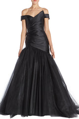 Off The Shoulder Trumpet Gown - moniquelhuillier