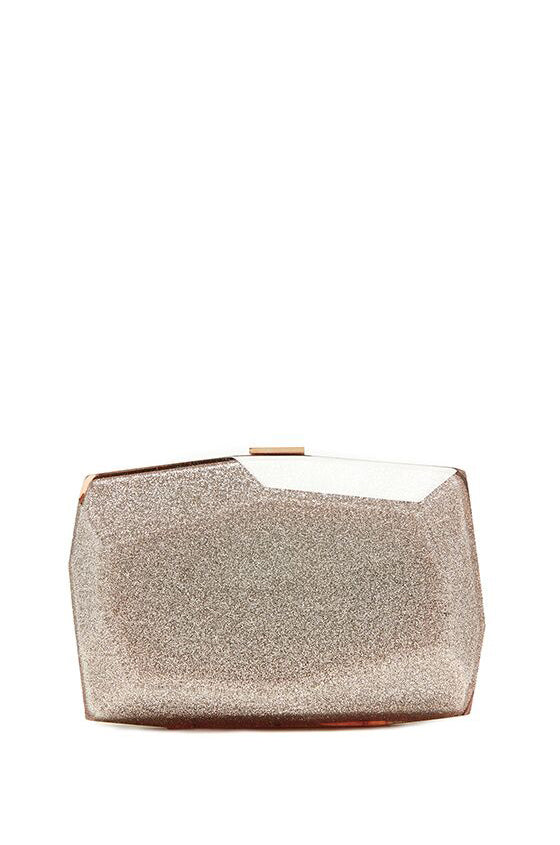 Rose gold Dasha clutch