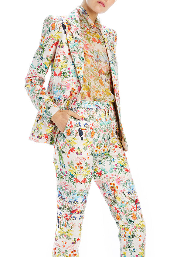 Paradise printed fitted blazer