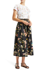 Tea Length Box Pleated Skirt