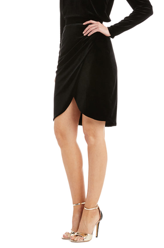 Monique Lhuillier black skirt