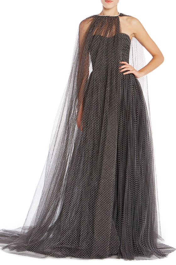 Tulle Gathered Cape
