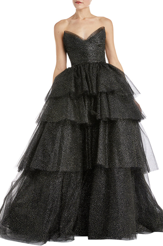 Black Ball Gown Fall 2019 Monique Lhuillier