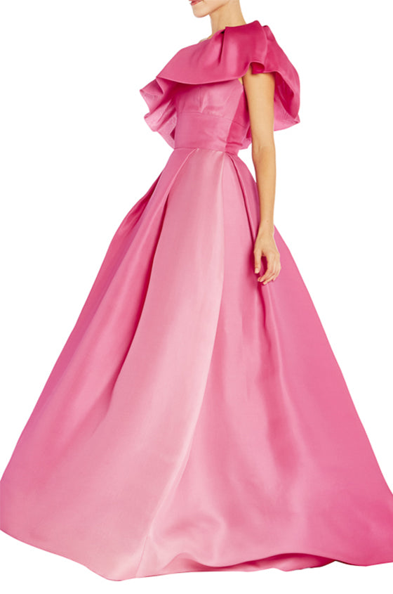 Monique Lhuillier Pink Ball Gown