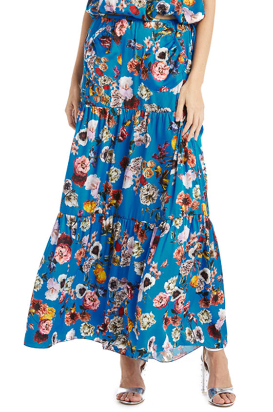 Floral Print Maxi Skirt Monique Lhuillier