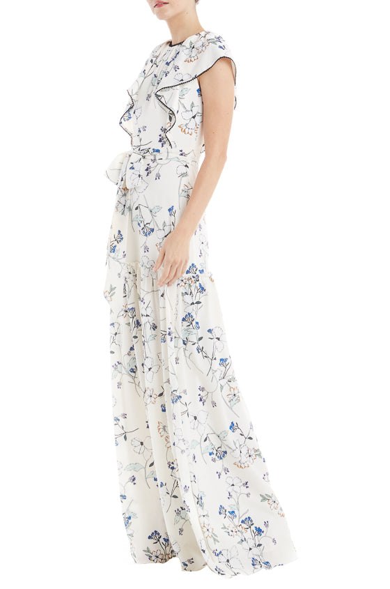 ML Monique Lhuillier Garden Print Gown