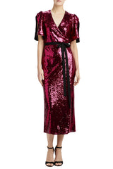 MLML sequin midi dress with belt