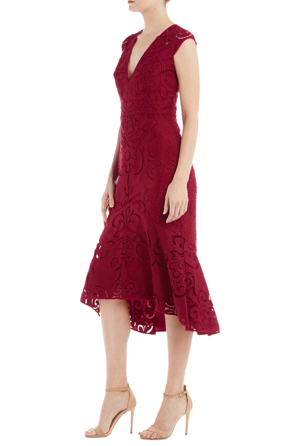 ML Monique Lhuillier Embroidered Dress