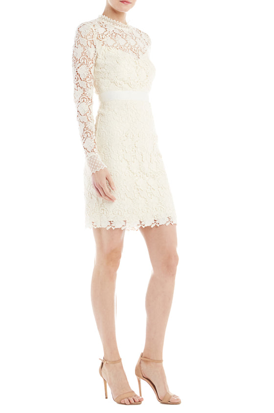 ML Monique Lhuillier Lace Cocktail Dress