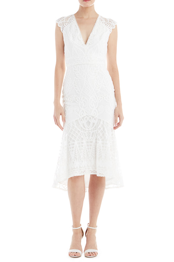 cb9d3b850916 ML Monique Lhuillier Embroidered Cocktail Dress
