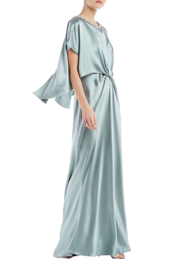 443879b3 ... Crepe Back Satin -Hidden back zipper -Silk lining -FINAL SALE Made in  USA. Monique Lhuillier Spring 2019 RTW Collection. Satin Draped Gown