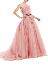 S19 Tulle Ball Gown Pink Monique Lhuillier