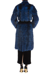 Cobalt Fox and Mink Fur Jacket