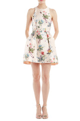 Floral Apricot Day Dress
