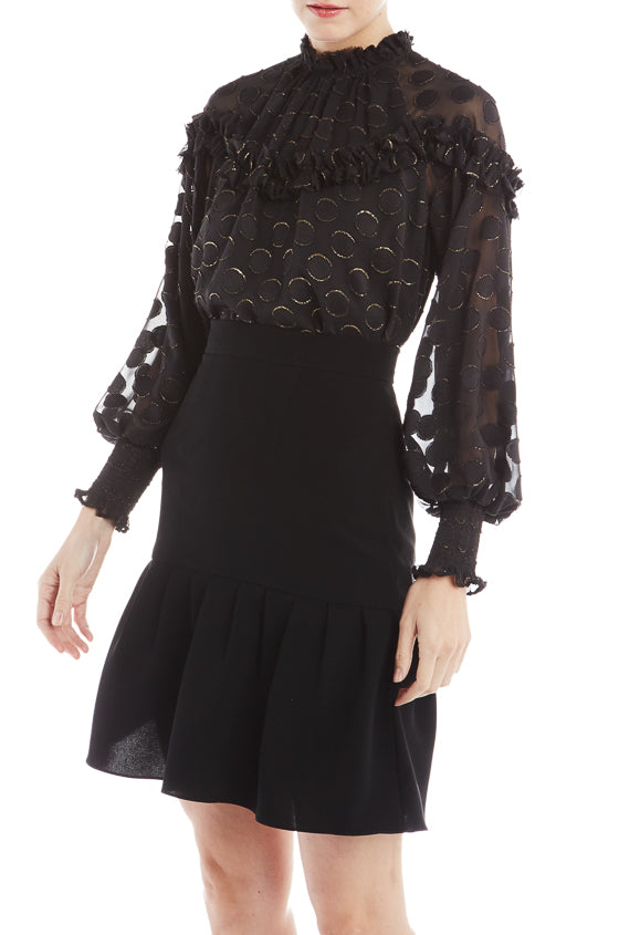 ML Monique Lhuillier Sheer Top- FINAL SALE