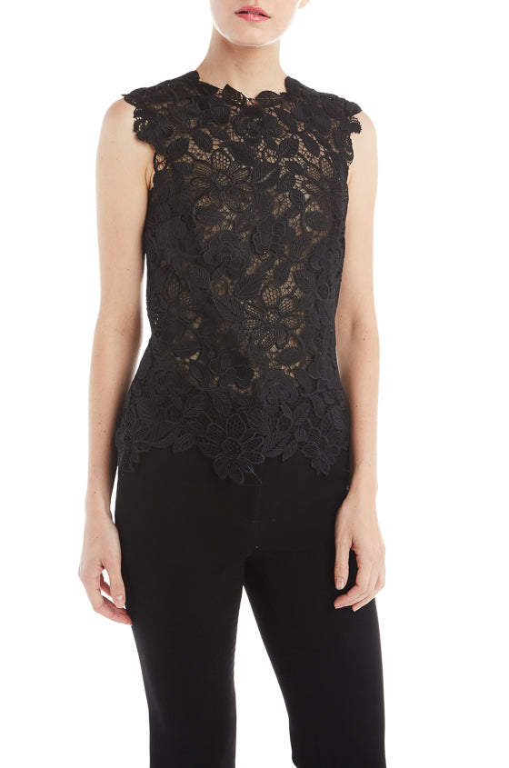 Floral Guipure Lace Shell