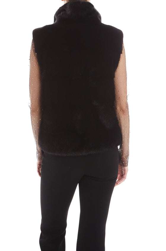 Mink Fur Vest Monique Lhuillier