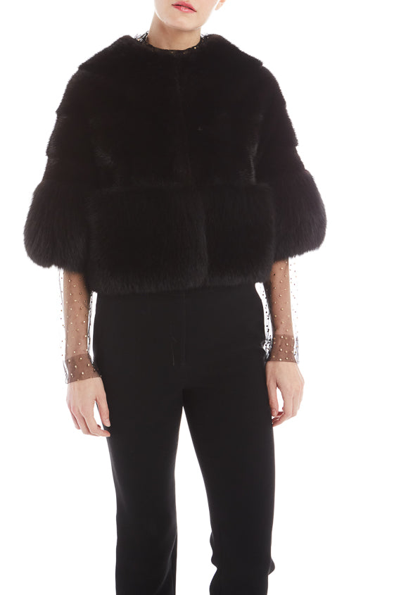 Mink fur jacket with Fox Fur Detail