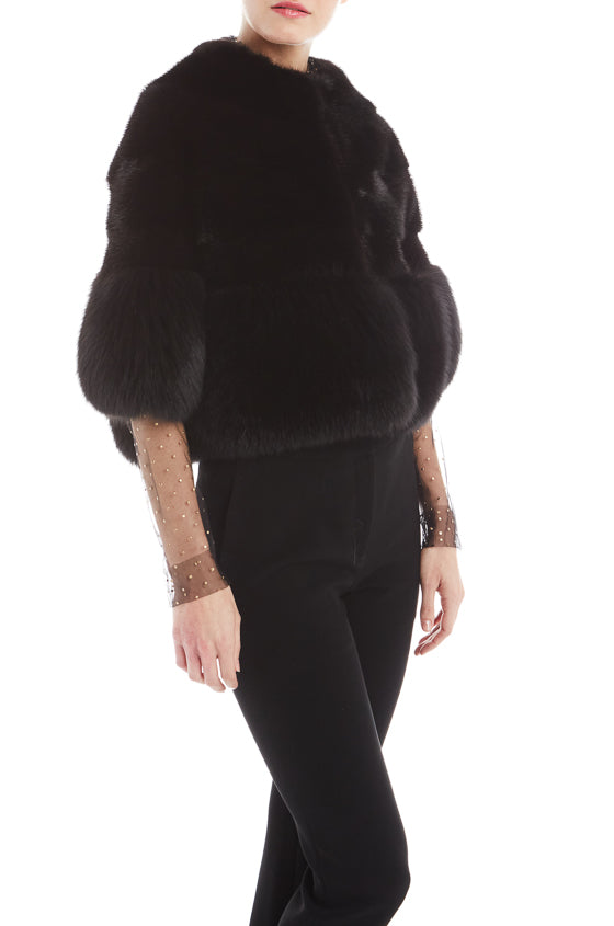 Black Mink Jacket Monique Lhuillier