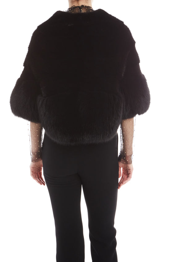 Noir Mink Fur Jacket