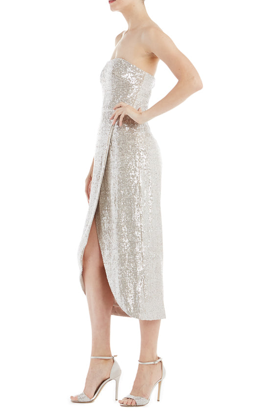 ebfff66bc6ab ML Monique Lhuillier Sequin Wrap Dress – moniquelhuillier