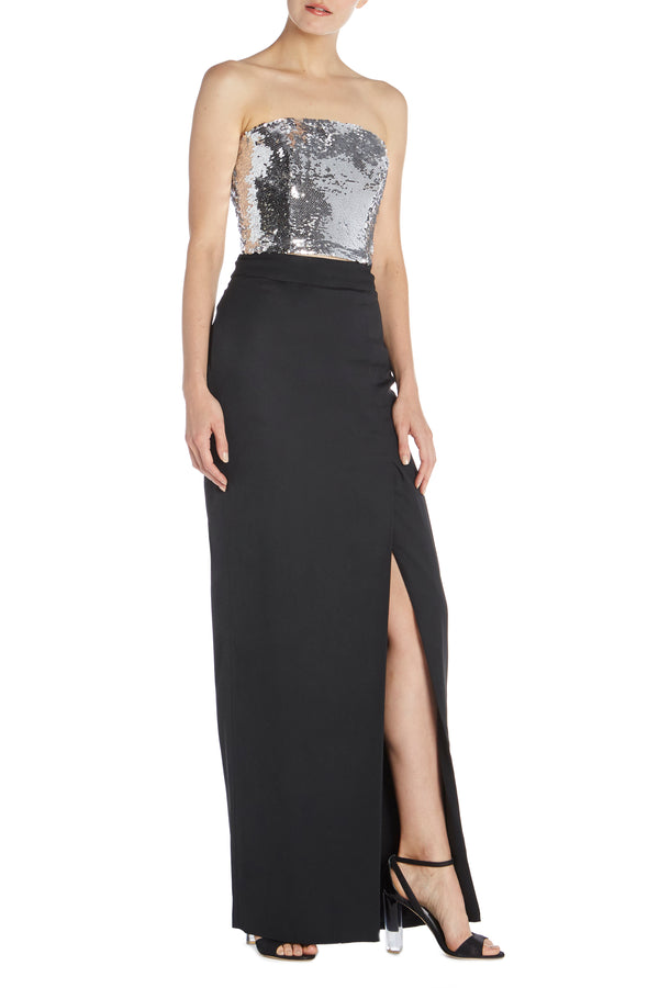 Column Skirt With Slit - moniquelhuillier