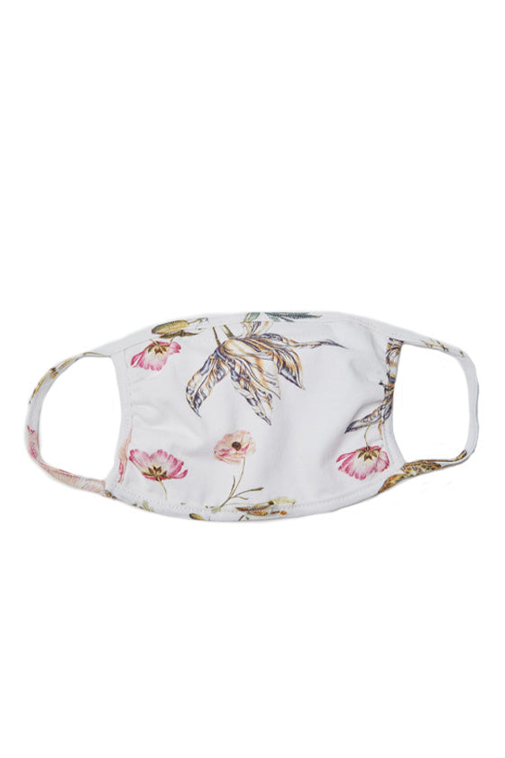 Floral Printed Signature Mask