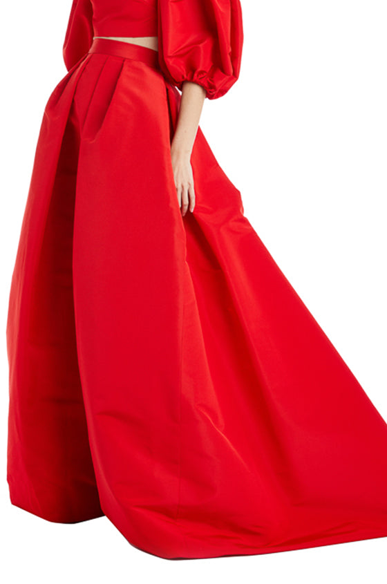 Monique Lhuillier Evening Skirt Red