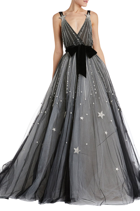 Black Tulle Ball Gown